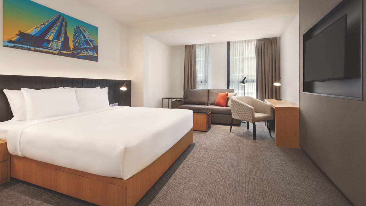Den King Bed Room at Hyatt House (Extended Stay Hotel Kuala Lumpur Mont Kiara)