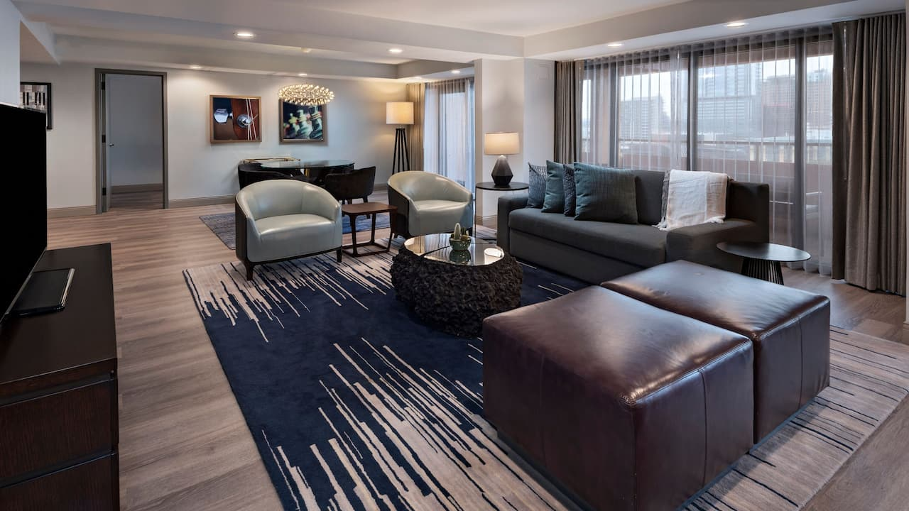 Hyatt Regency Austin Presidential Suite living area