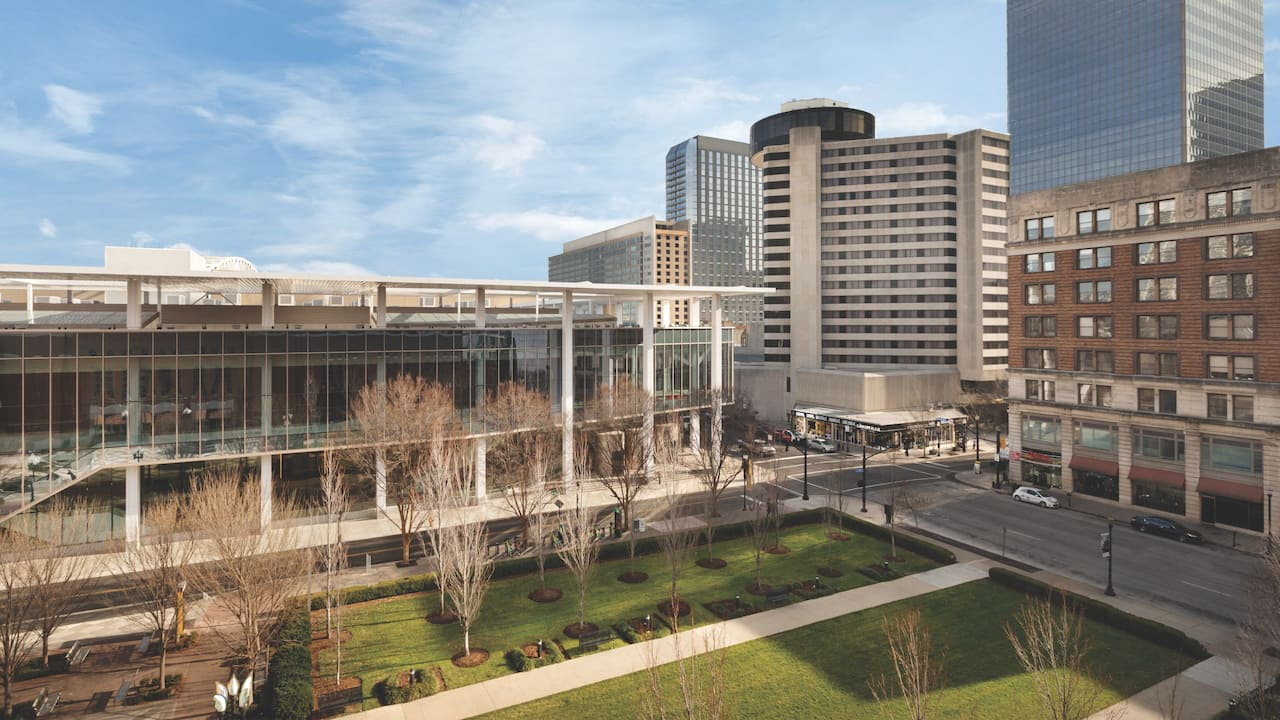 Exterior image of hotel and convention center