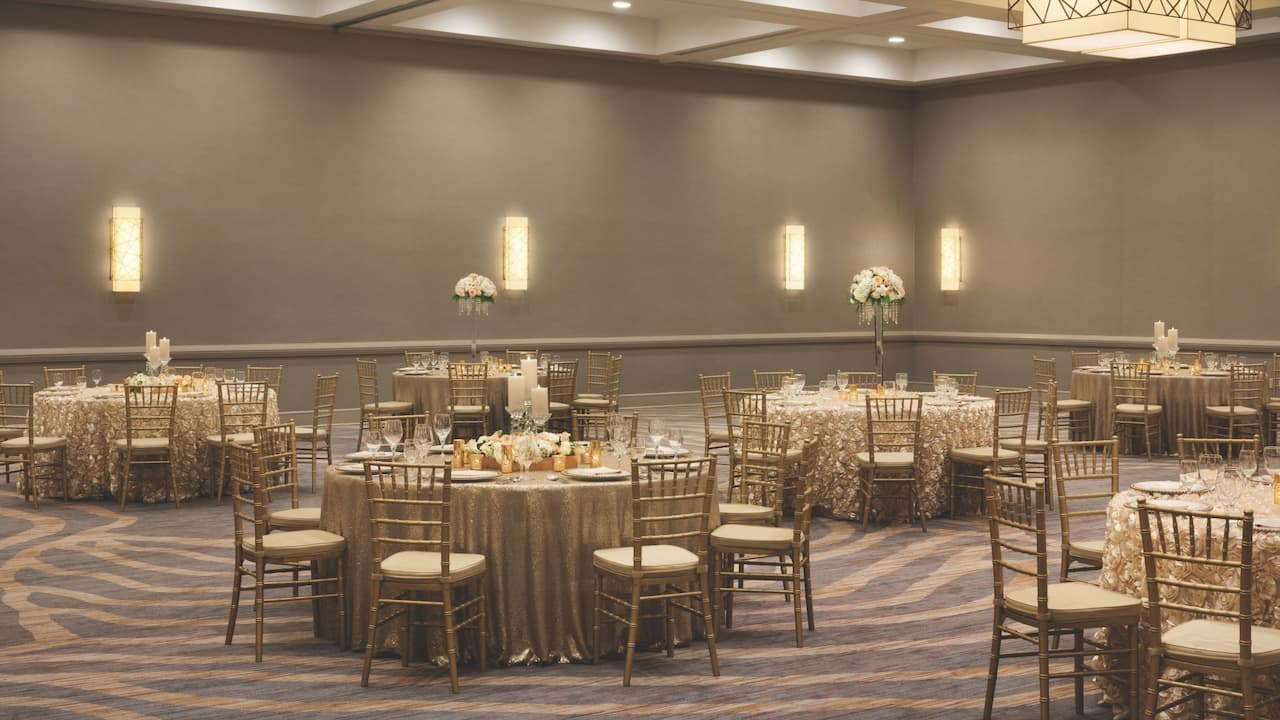 Wedding reception banquet tables
