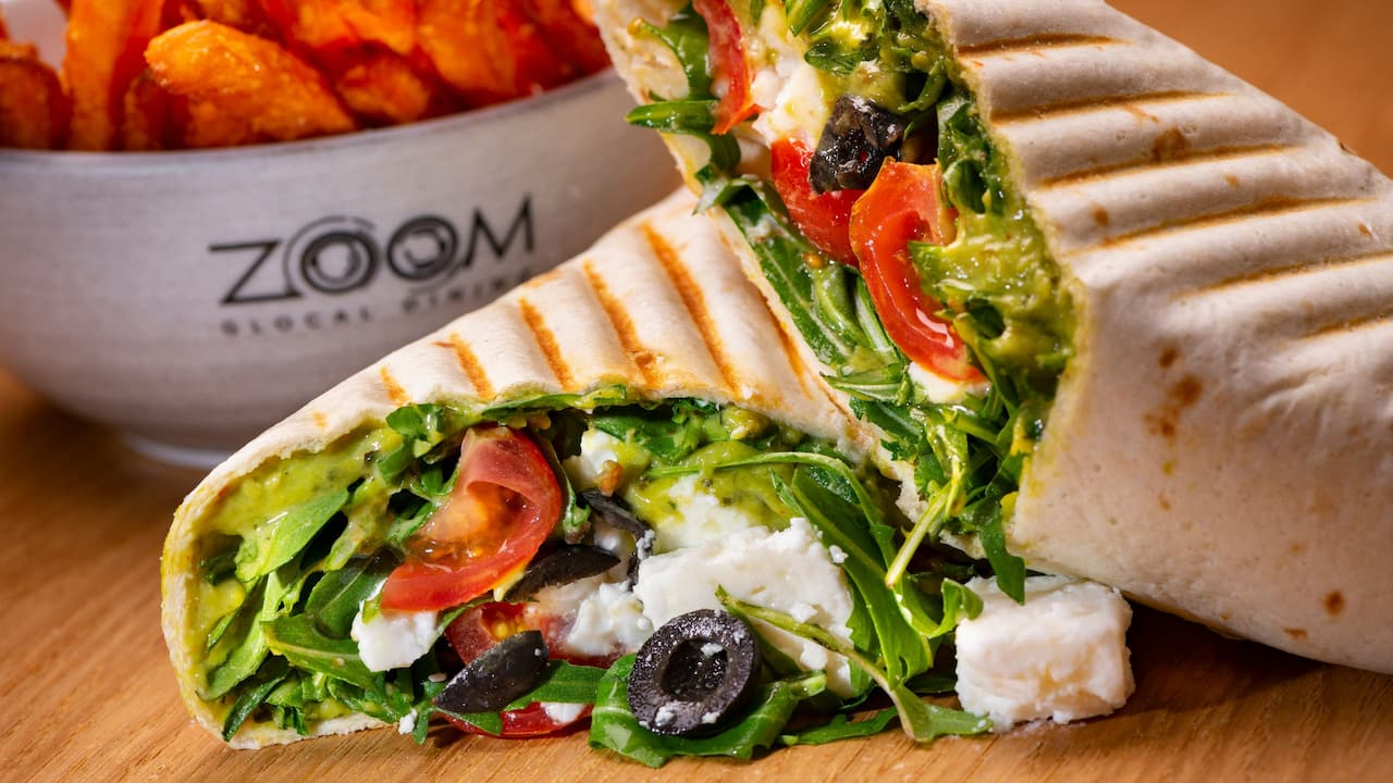 Zoom Restaurant Feta Wrap