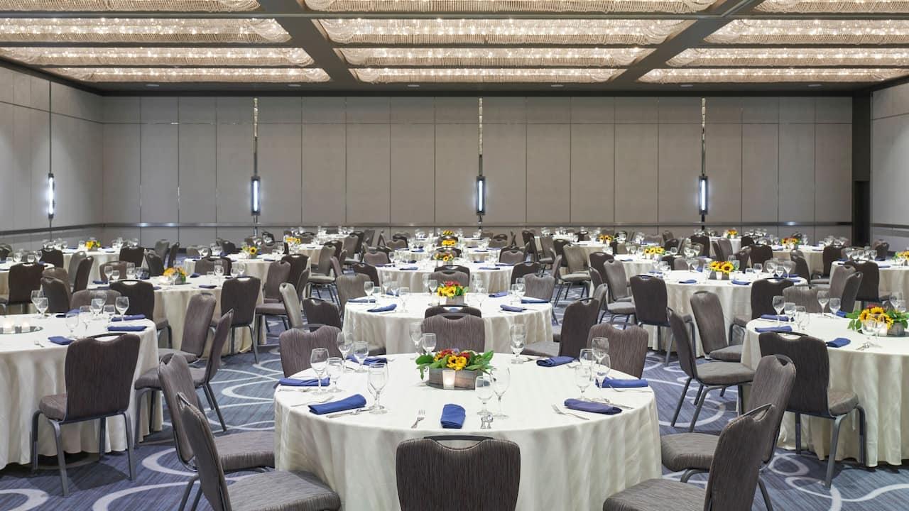 Regency Ballroom Banquet Rounds Setup