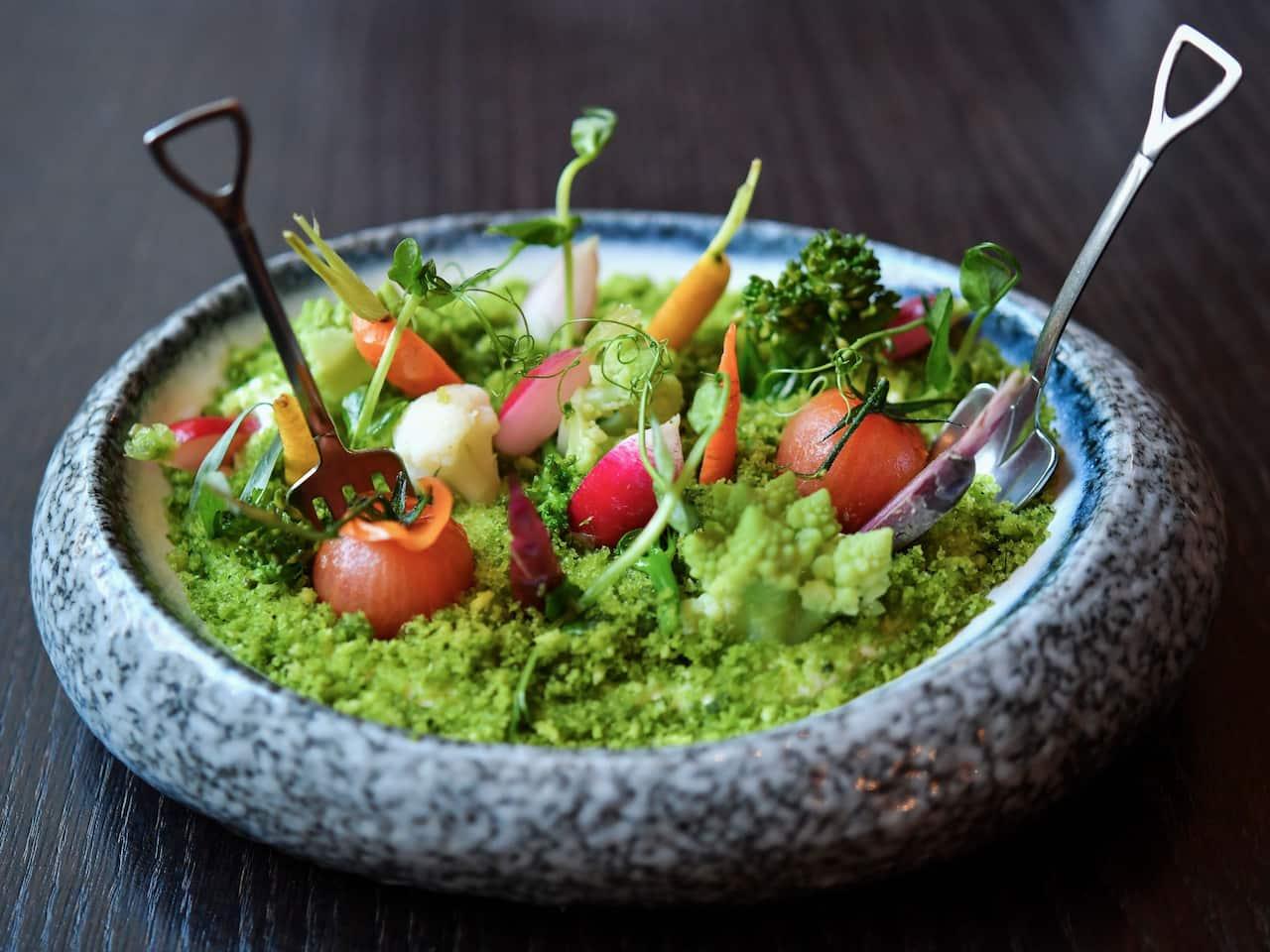 Sunday Garden Brunch salad at The Montagu Kitchen in Marylebone