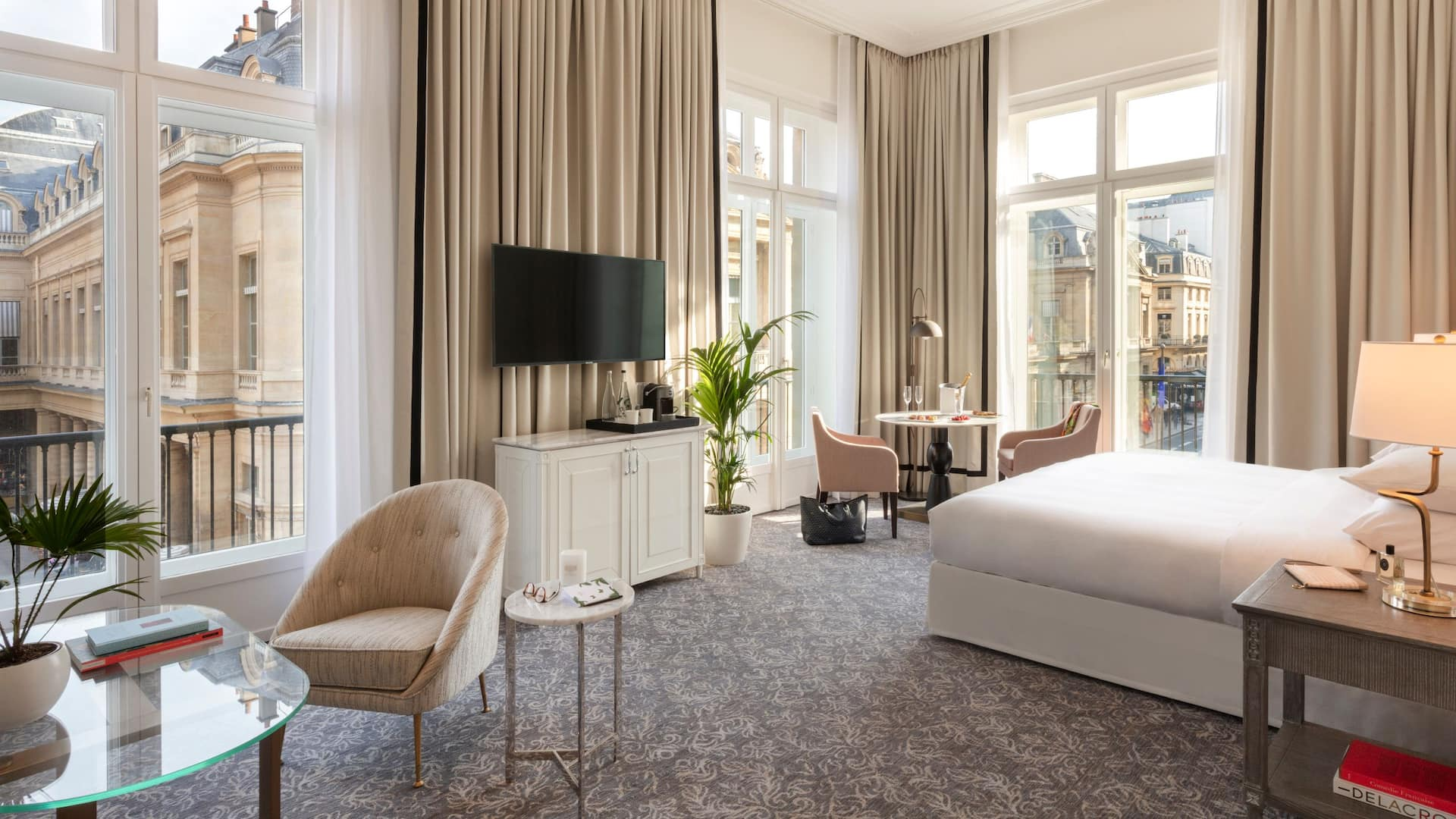 Renovated Bedroom at Hôtel du Louvre by Hyatt