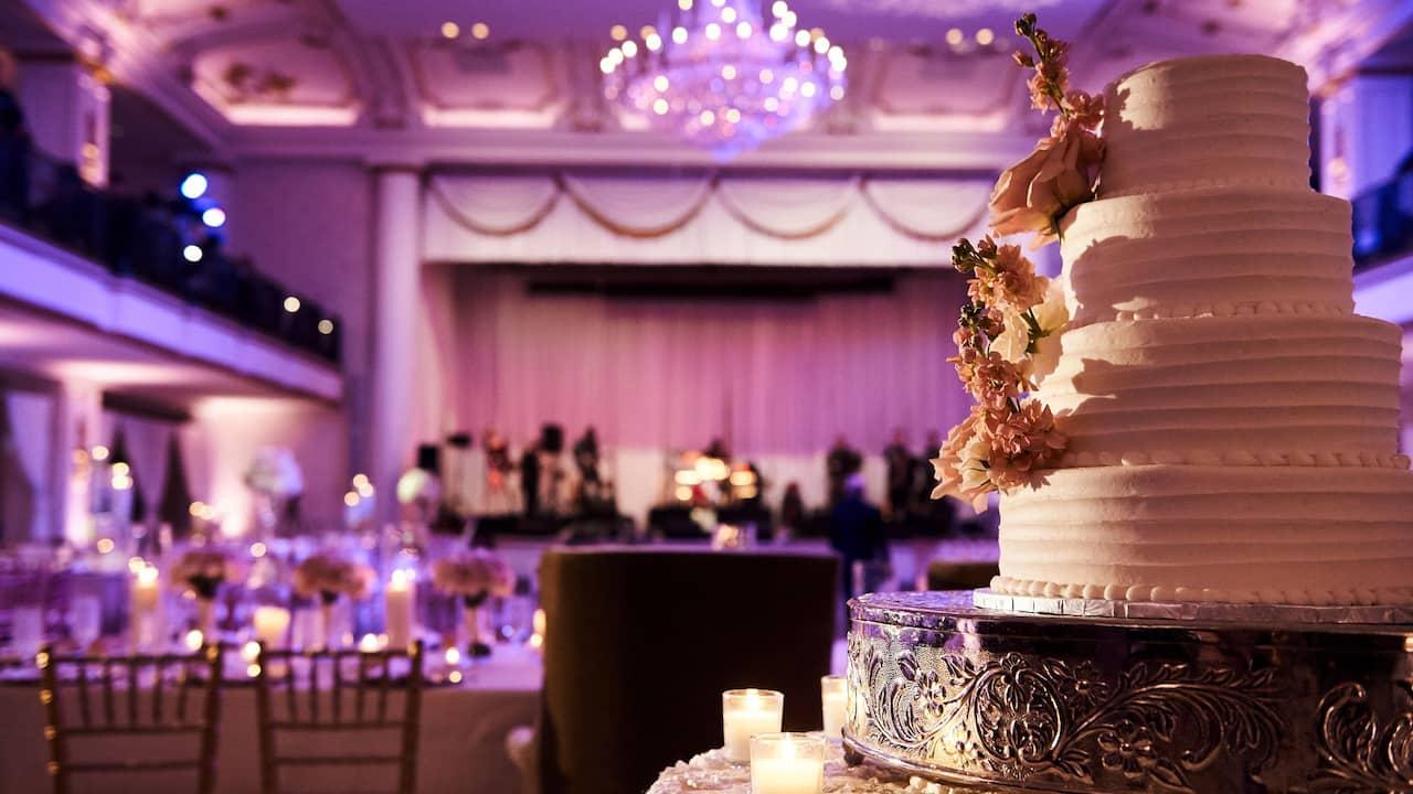 Grand Ballroom Wedding cake at The Bellevue Hotel