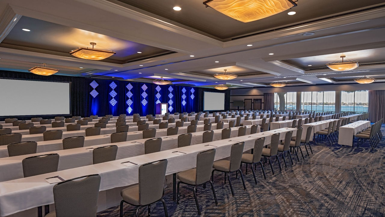 Large conference room inside a Mission Bay hotel