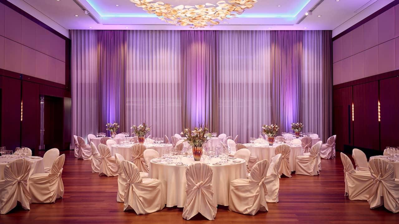 Park Hyatt Zurich Ballroom Gala Dinner Setup