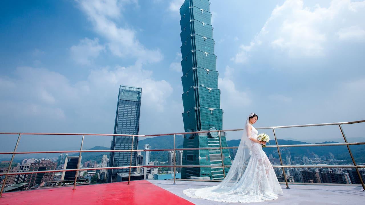Grand Hyatt Taipei Outdoor Wedding Taipei 101
