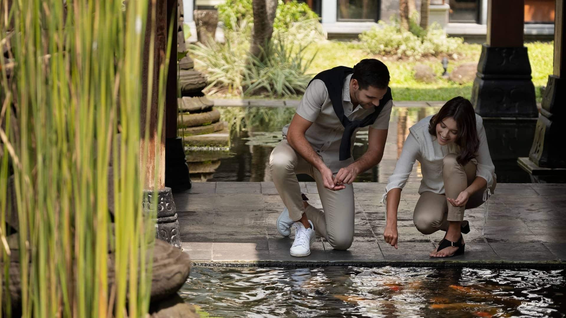 Feeding Animals at Hyatt Regency Yogyakarta