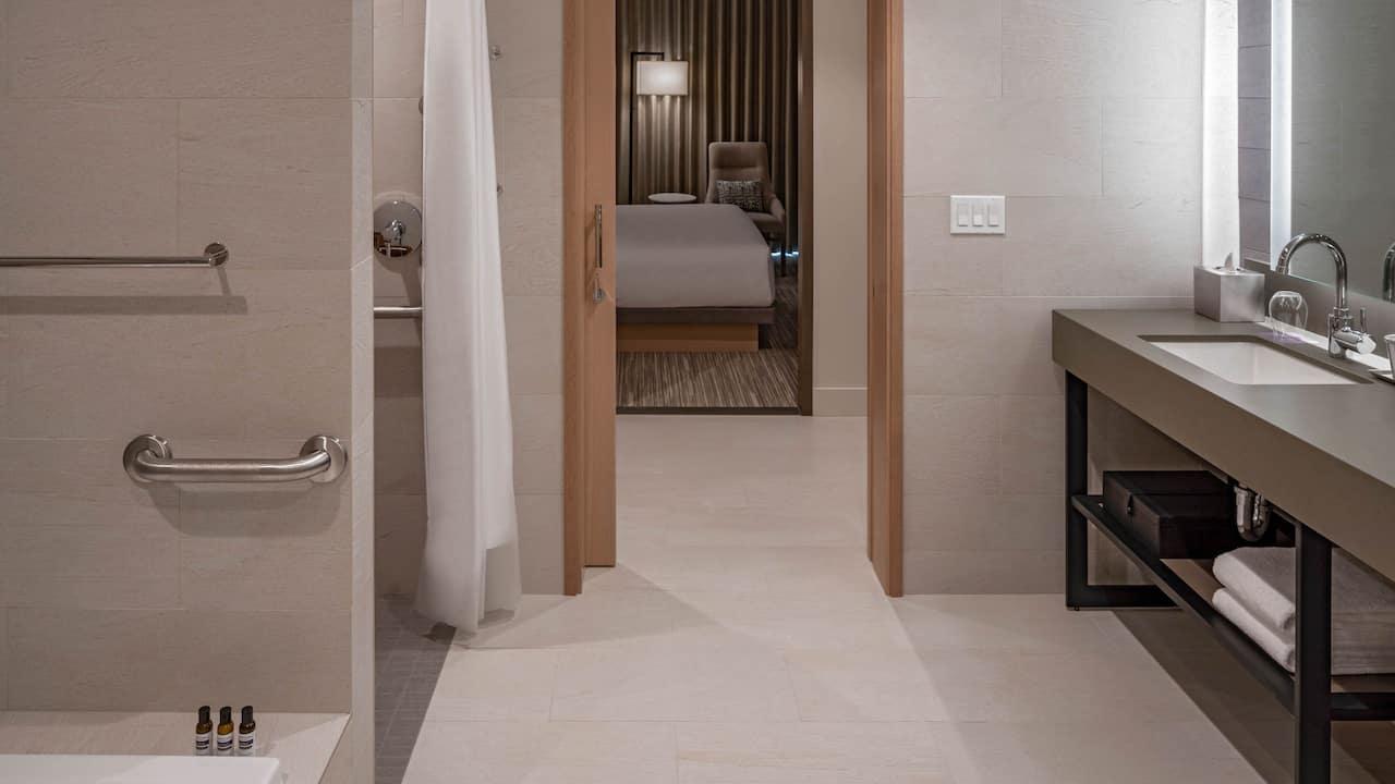 Hyatt Regency Seattle ADA Regency Suite Bathroom
