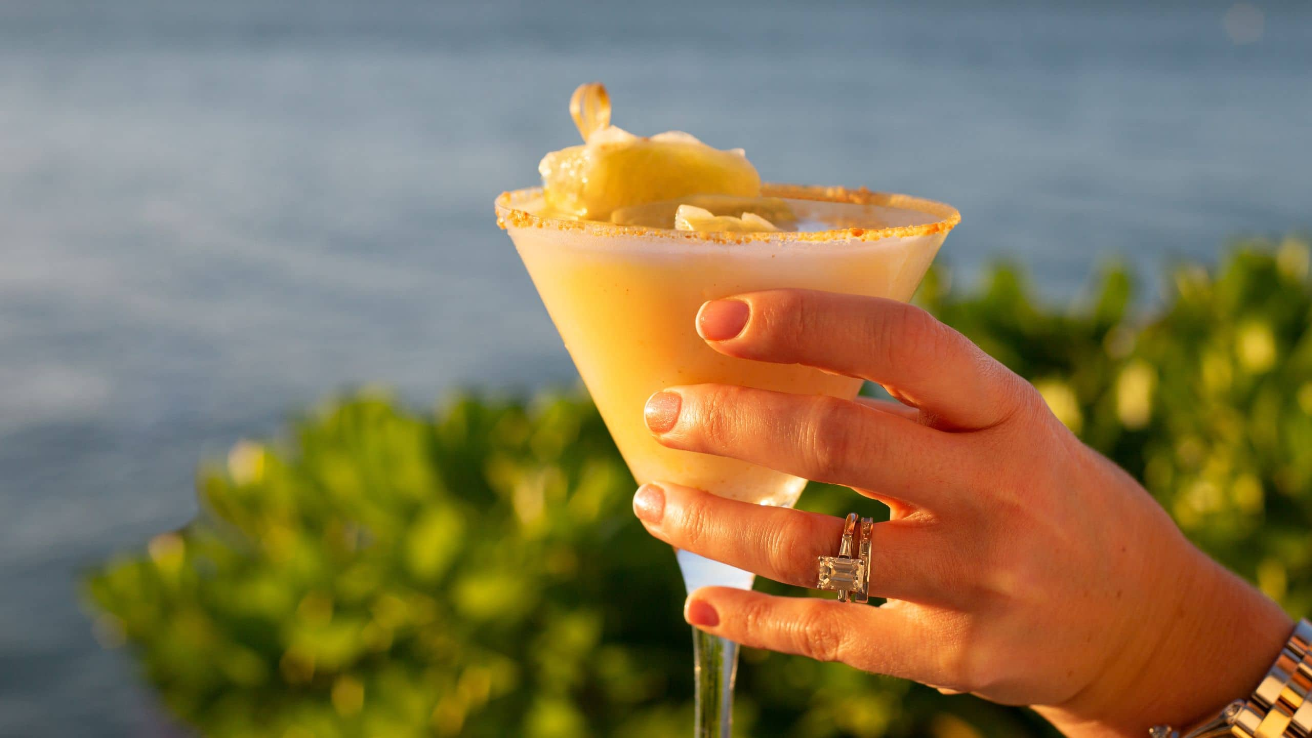 Enjoy a relaxing drink at Blue Mojito