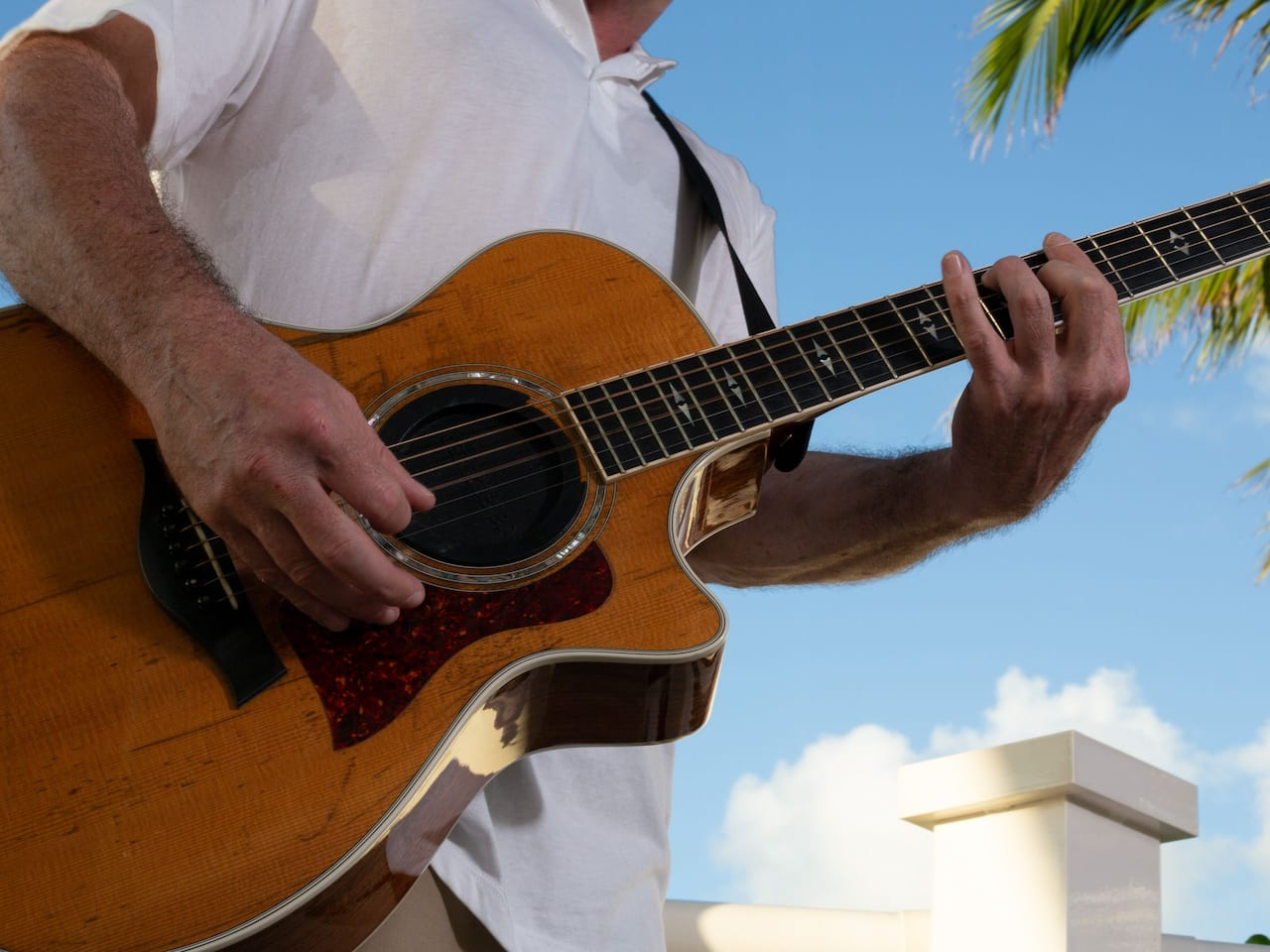 Musician with Guitar