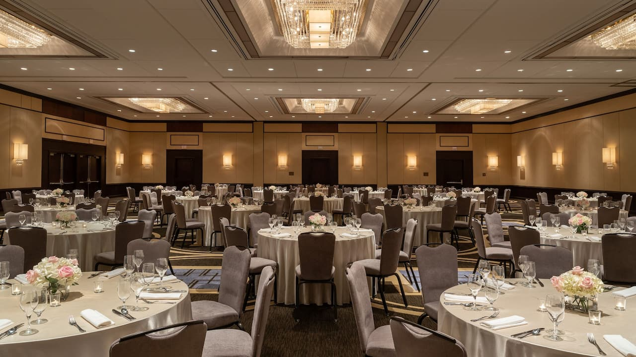 Regency Ballroom Social Set-Up at Hyatt Regency Greenwich