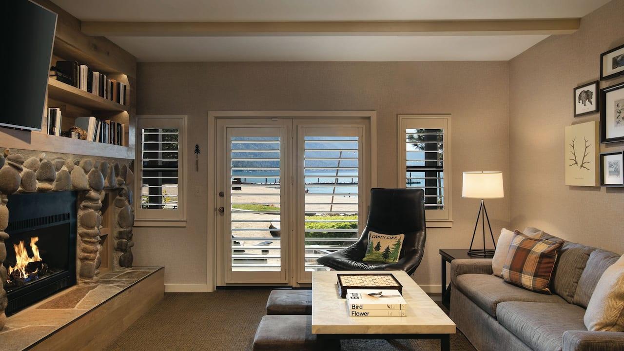 Beach Front Cottage Lower Living Room  Hyatt Regency Lake Tahoe Resort, Spa & Casino