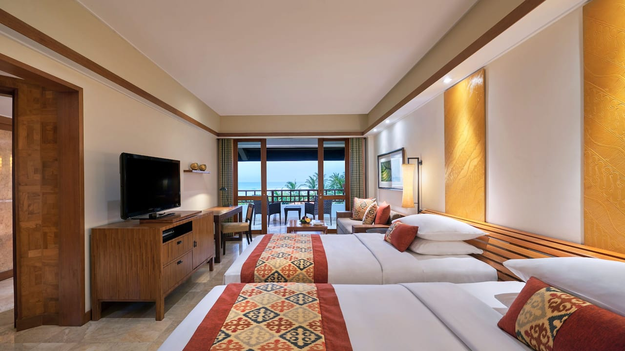 2 Twin Beds Ocean View Club Access at Grand Hyatt Bali
