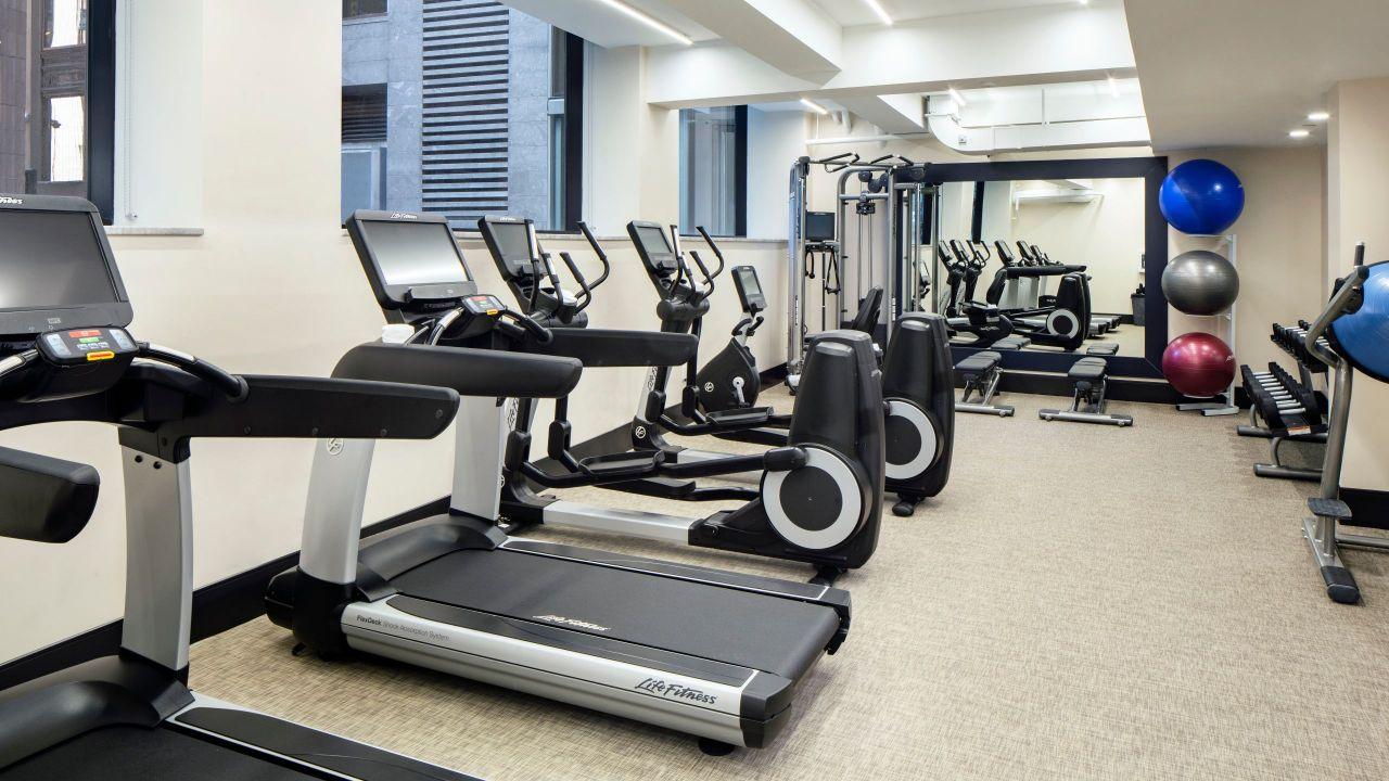 fitness center at Hyatt Centric Faneuil Hall Boston