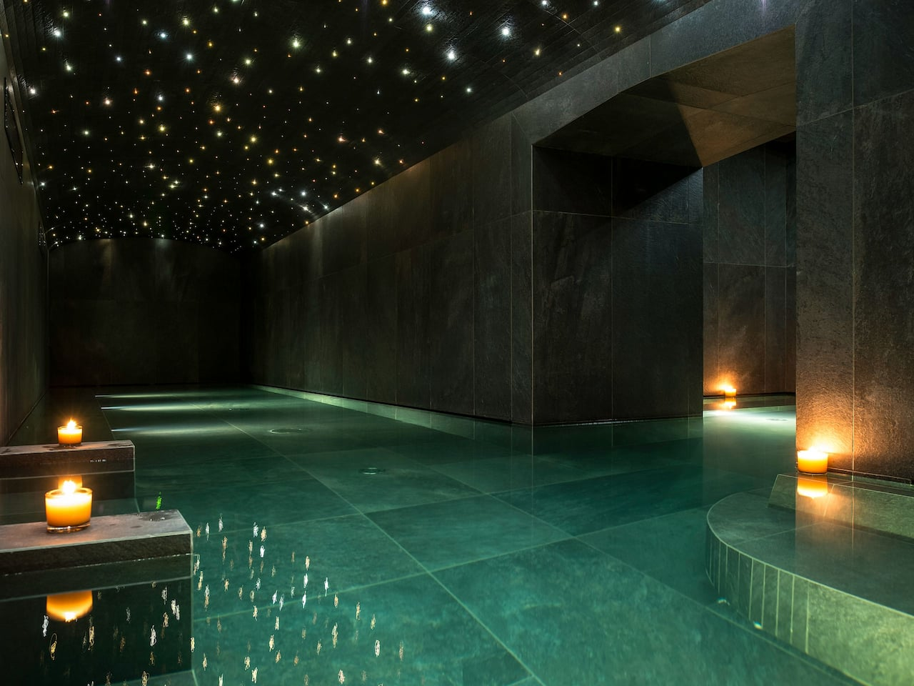 Hyatt Centric Milano Centrale Spa Roman Bath Lights