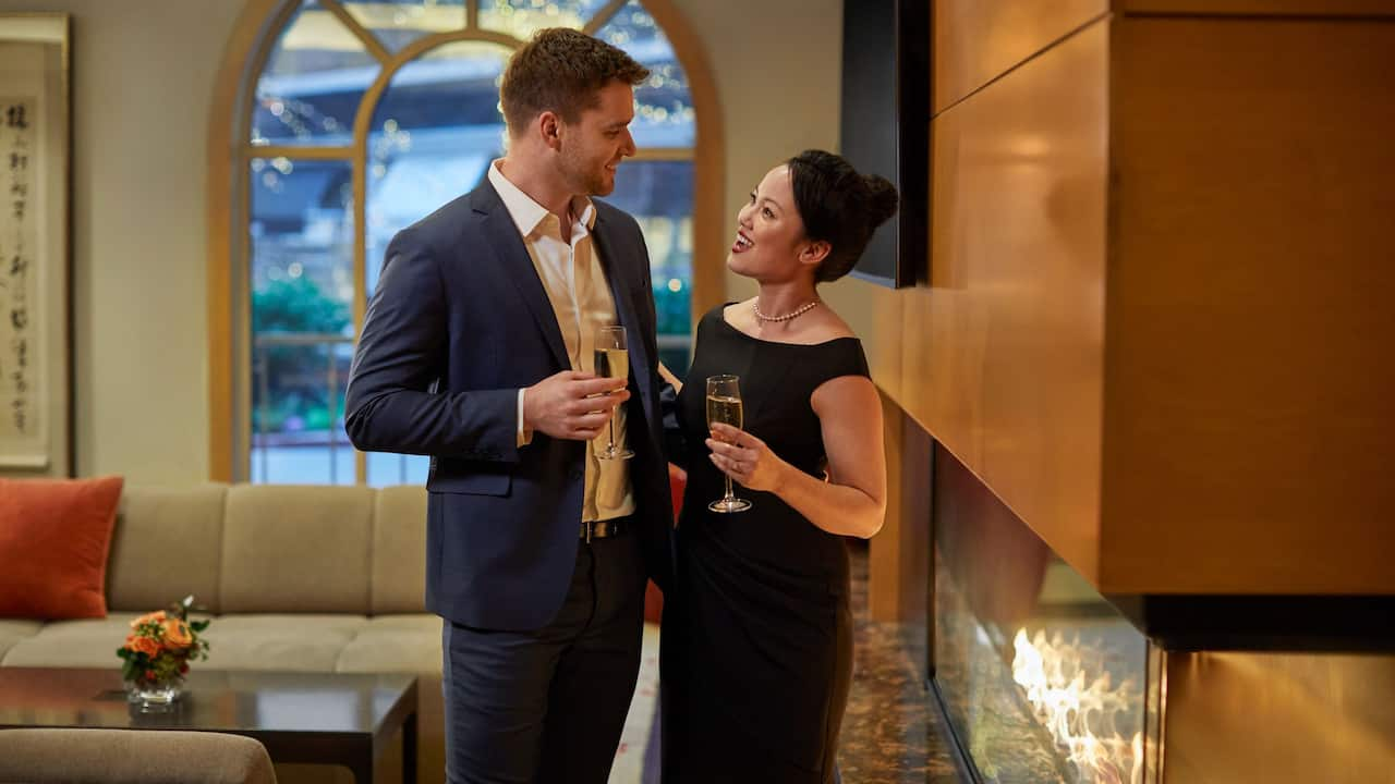 A Room with a Veuve Date Night Package