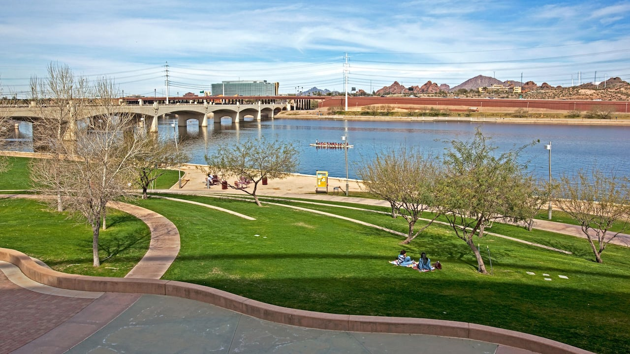 Tempe Town Lake and Corp Buildings