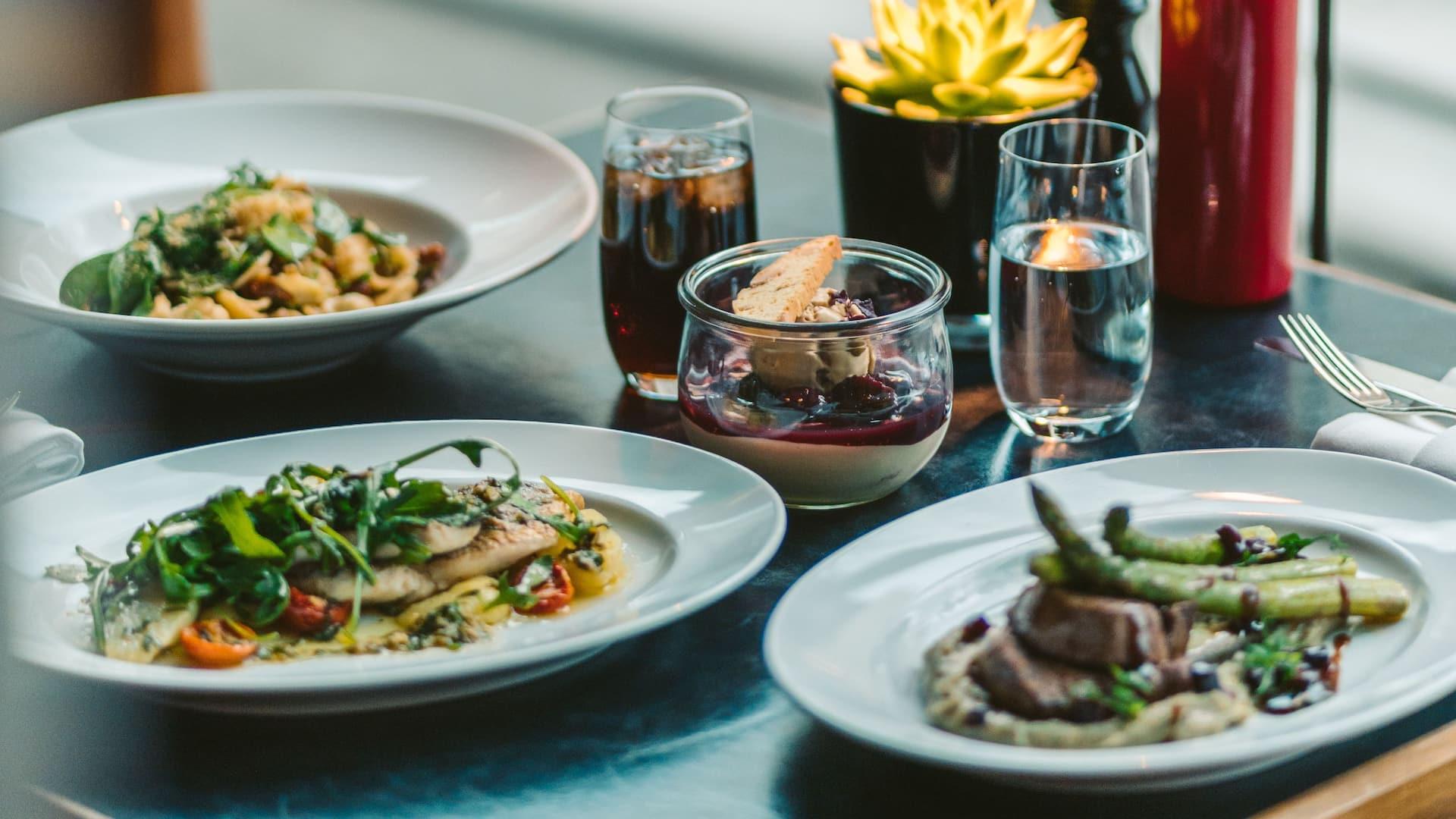 Tizian dishes at Grand Hyatt Berlin