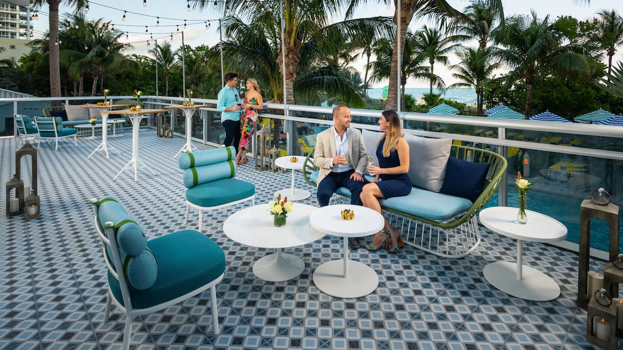 Terrace Carmen Miranda Ballroom at The Confidante Miami Beach