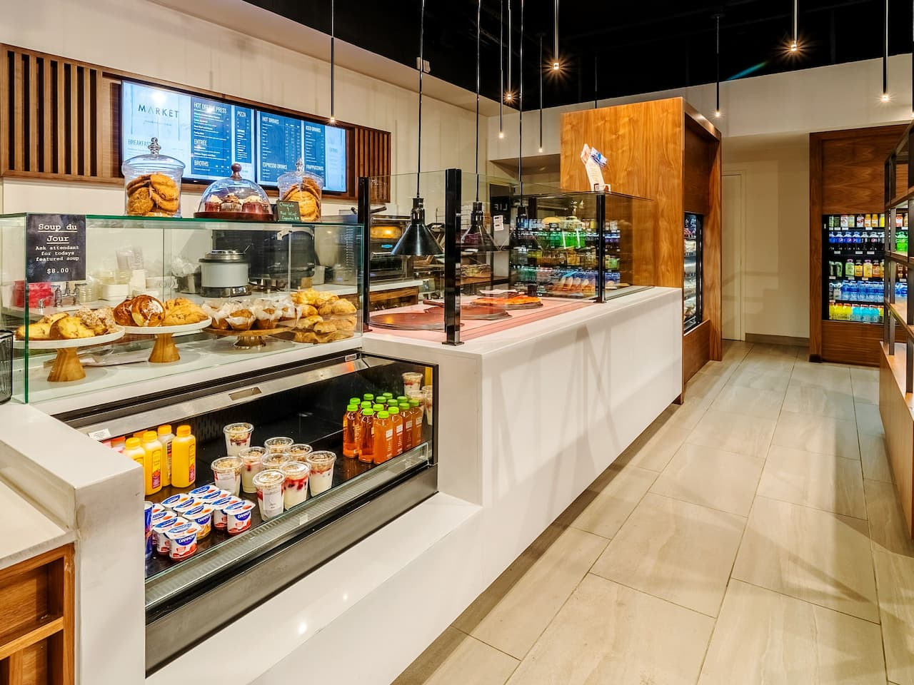 A close up of the checkout counter at the breakfast market at Hyatt Regency Miami
