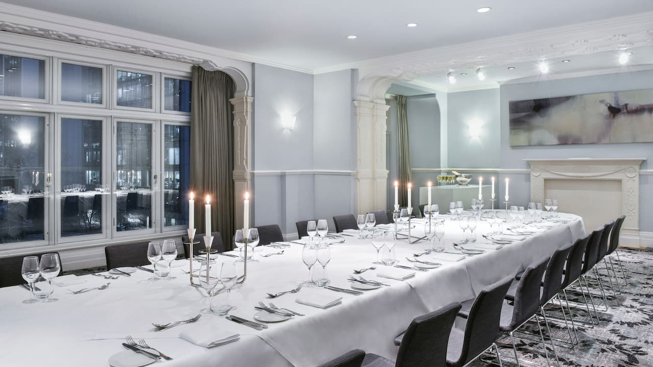Private dinner event | Andaz London Liverpool Street