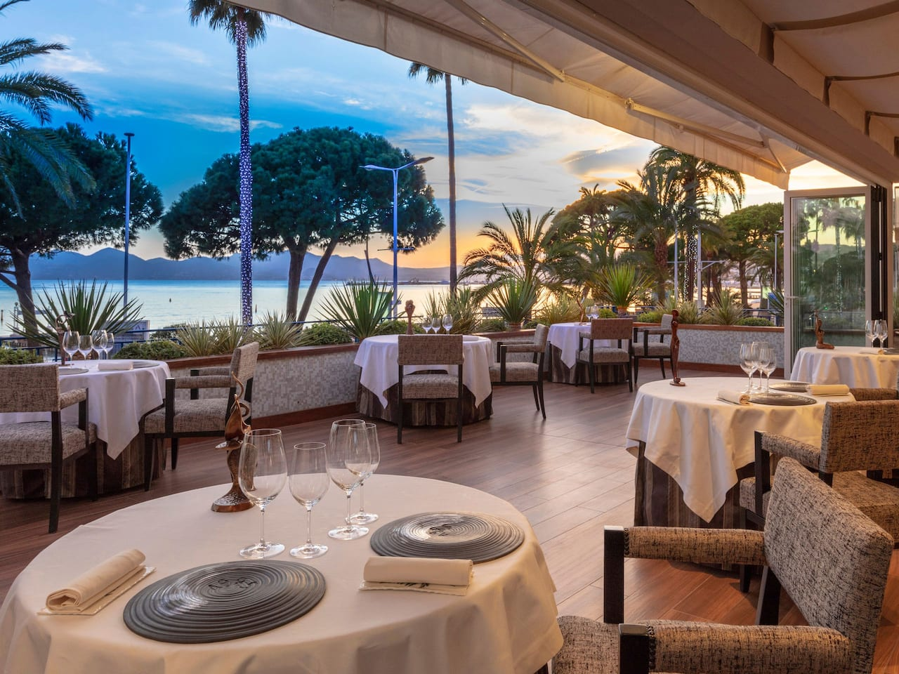 2 Michelin-starred at La Palme d'Or Hôtel Martinez Cannes