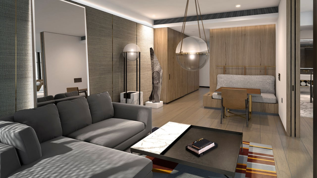 Park Hyatt Auckland Park Suite Living Room