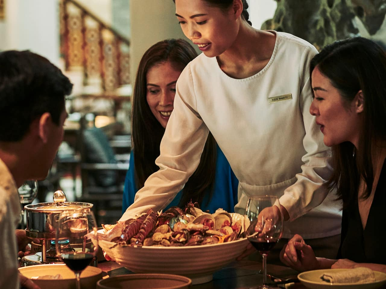 Sumptuous seafood at Market Café Hanoi Restaurant at Hyatt Regency West Hanoi, Vietnam
