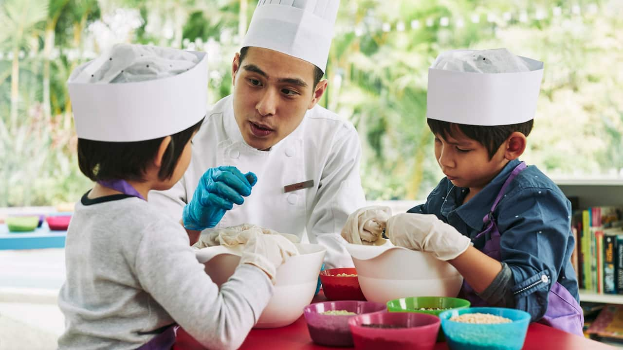 Kids Club Activities at The Grand Hyatt Hotel in Nusa Dua Bali