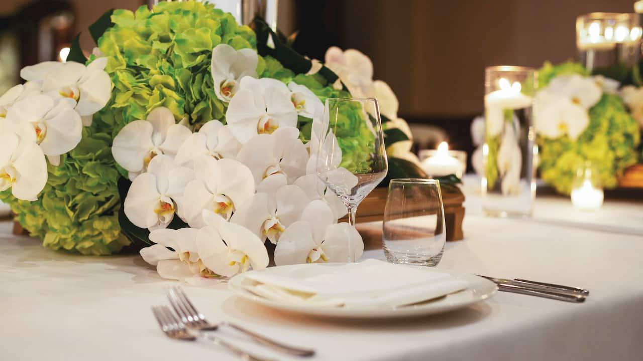 Wedding table set up