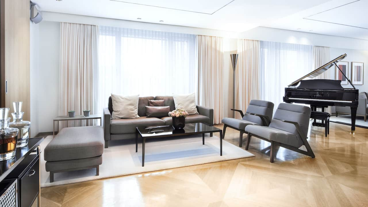maybach suite livingroom at grand hyatt berlin