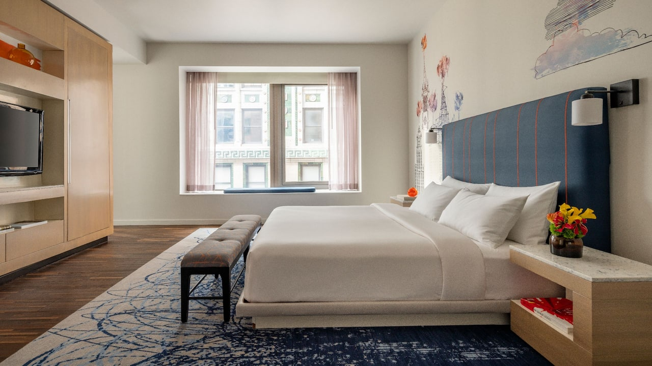 Large Suite Bedroom at Andaz Wall Street