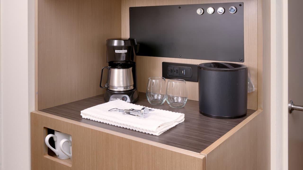 Hotel Guest Room Microwave Fridge