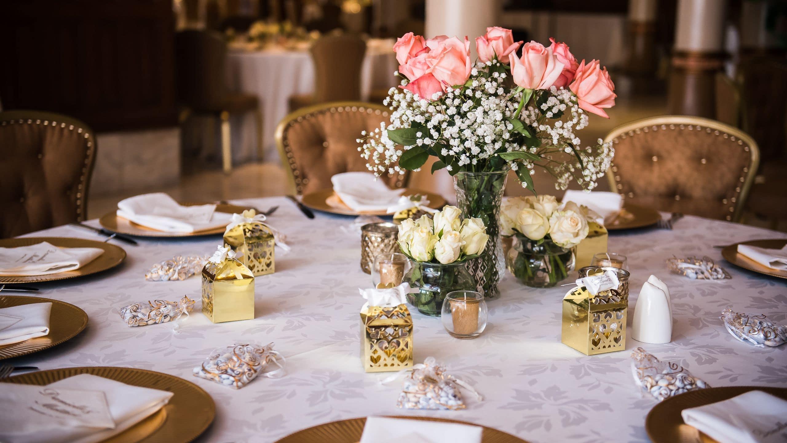 beautiful lit wedding space