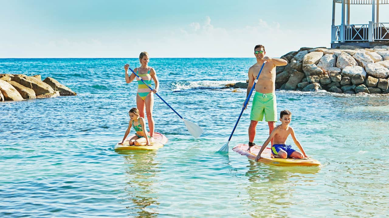 Hyatt Ziva Rose Hall Paddle Boarding