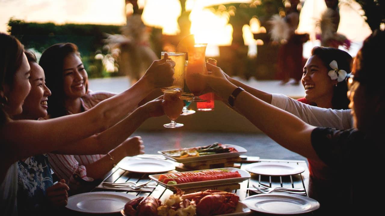 Breezes Restaurant at Sunset