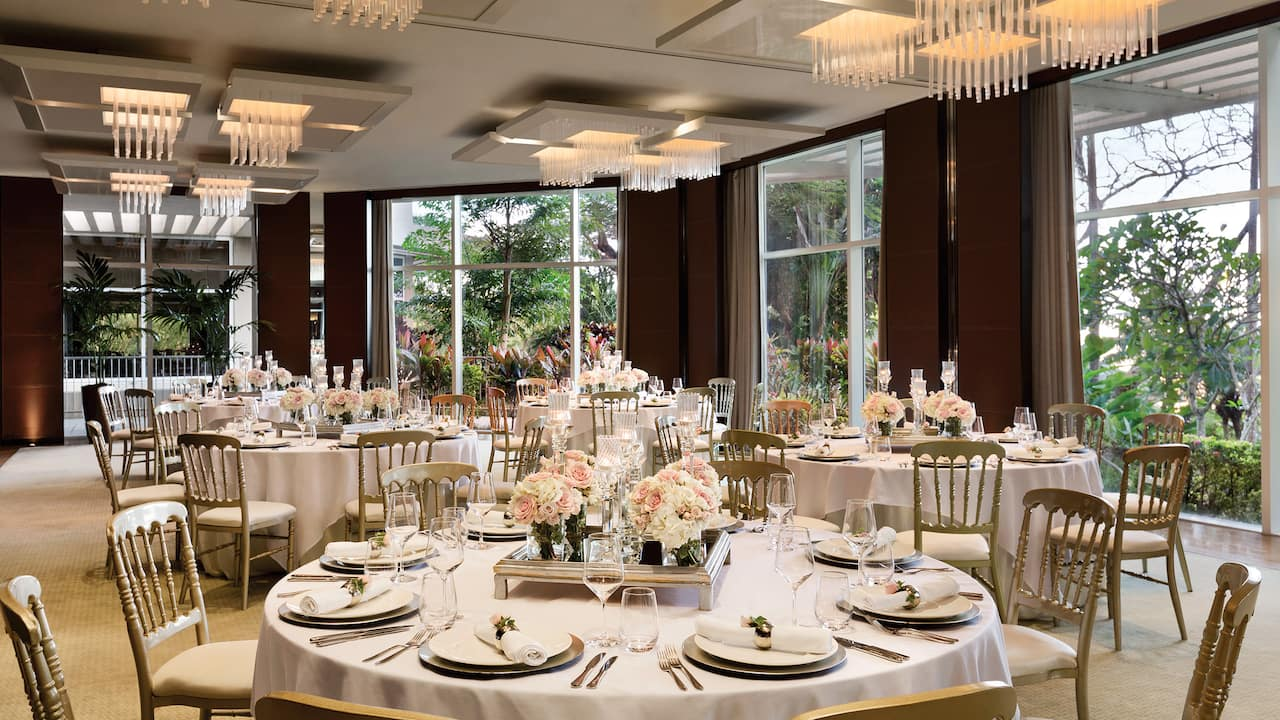 The Salon Banquet Set Up