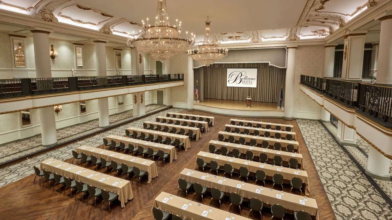 Grand Ballroom Classroom Setup