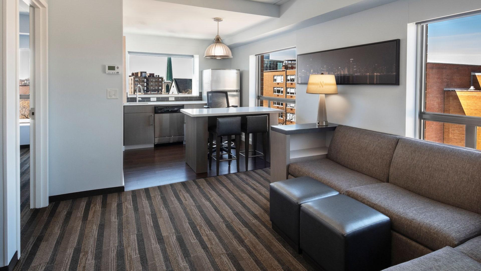 Northwestern Guestroom Living Area