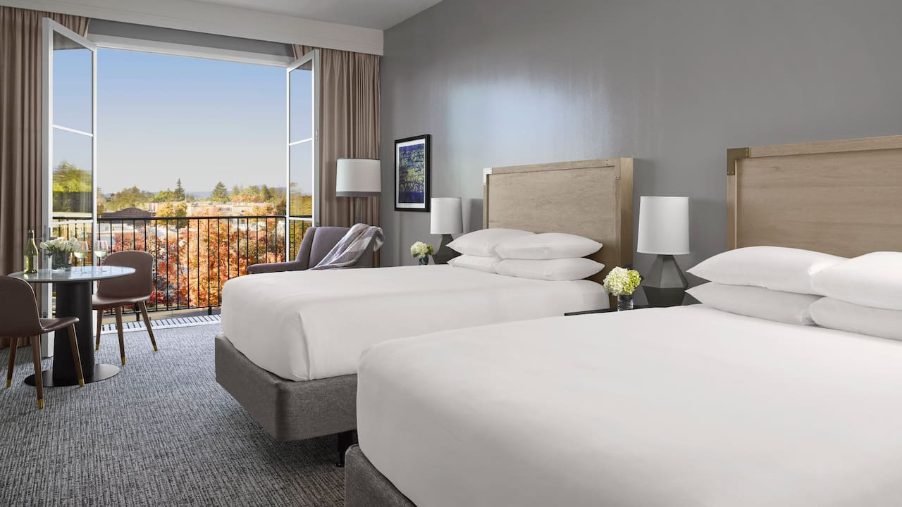 Double Queen Bed With View | Hyatt Regency Sonoma Wine Country