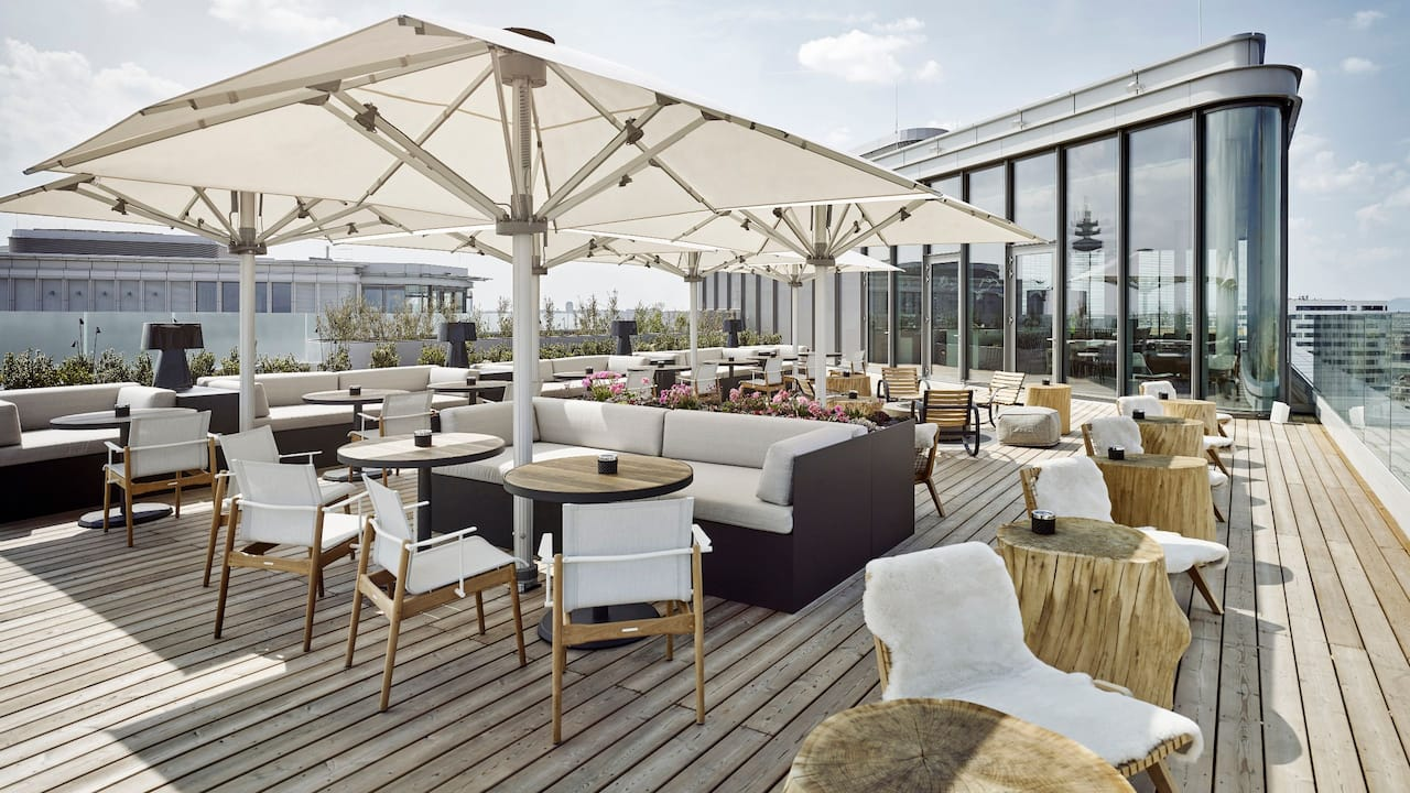 Andaz Vienna Terrace Bar Night