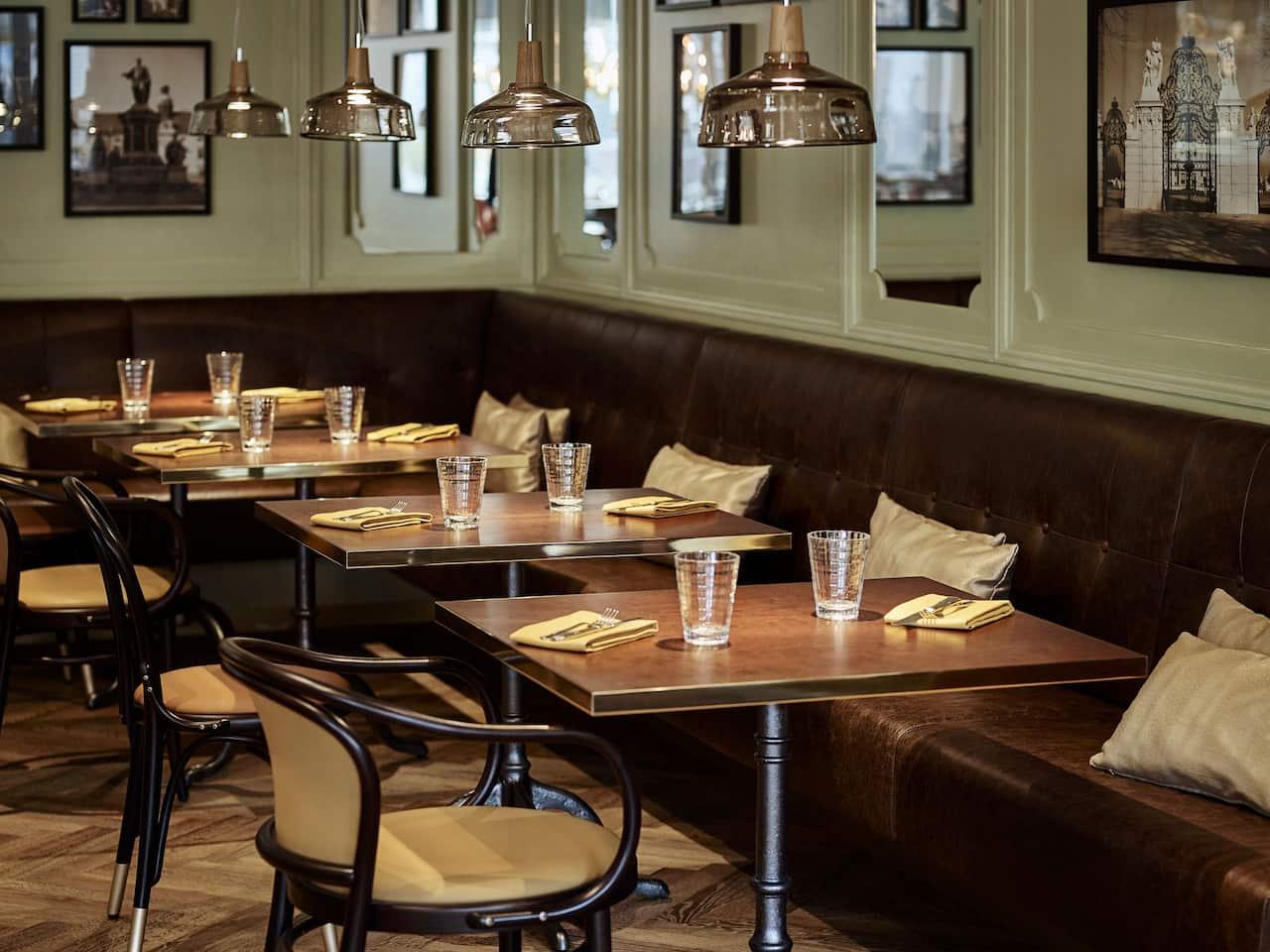 Eugen 21 Restaurant - gedeckte Tische