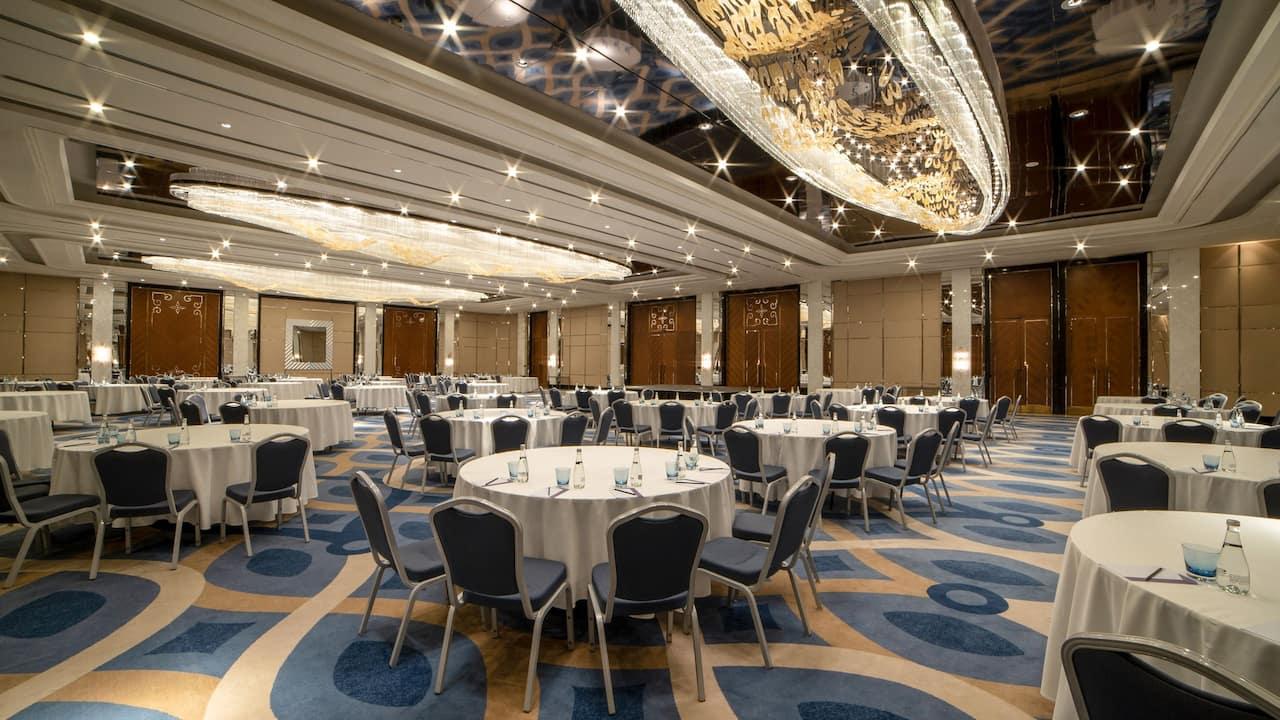 hyatt regency istanbul atakoy ballroom food setup