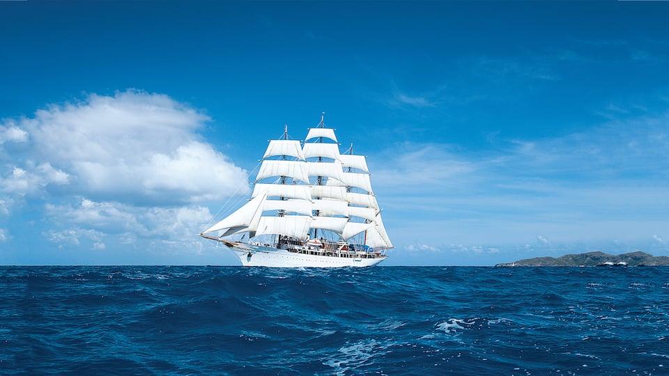 Lindblad Expeditions Tall Ship at sail