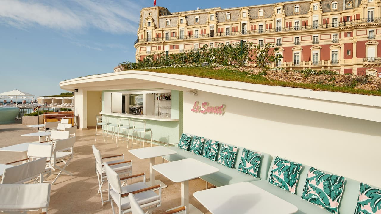 Sunset bar at Hotel du Palais in Biarritz