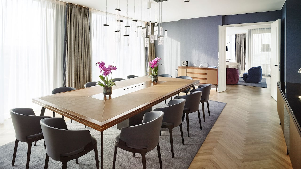 Andaz Vienna Am Belvedere Penthouse Suite Dining Room