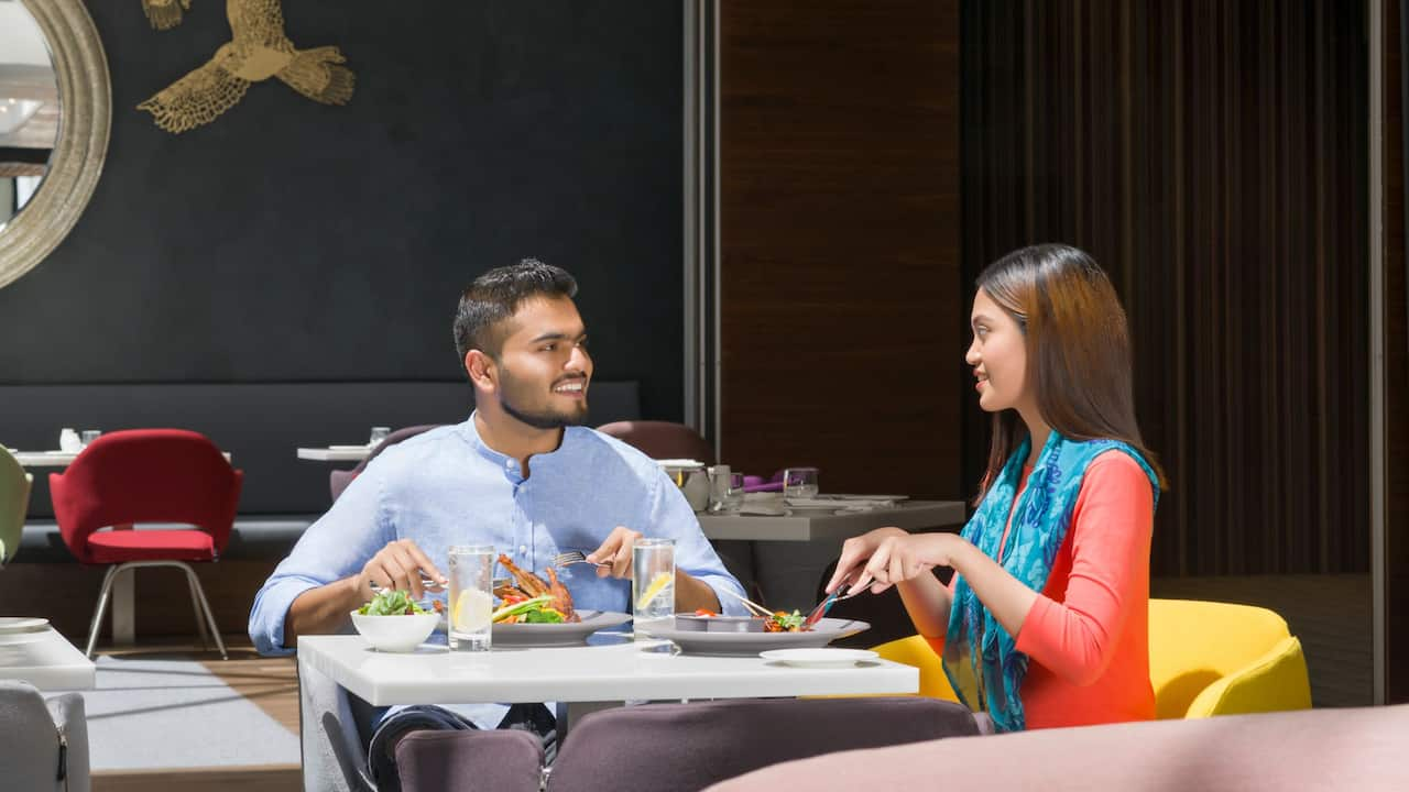 Enjoy a meal at Focus Glocal Dining