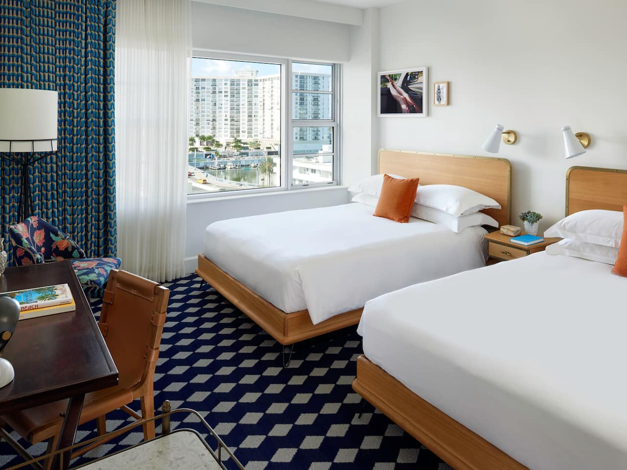 Miami Beach Hotel Room with Double Queen Beds at The Confidante Miami Beach